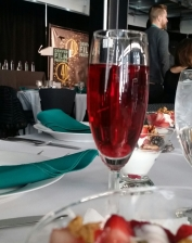 DFF Awards w/champagne and an award-winner!
