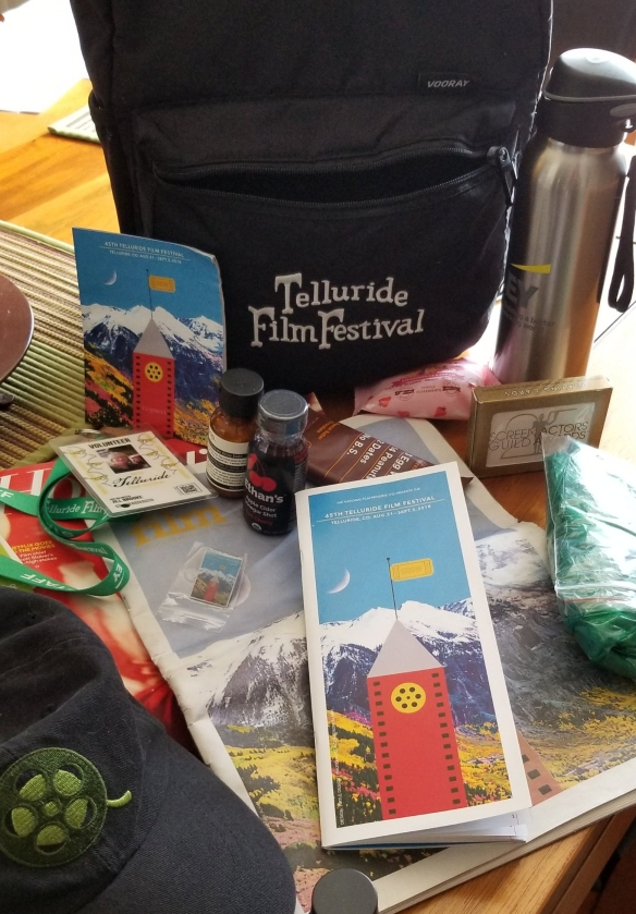 Telluride Film Fest Swag